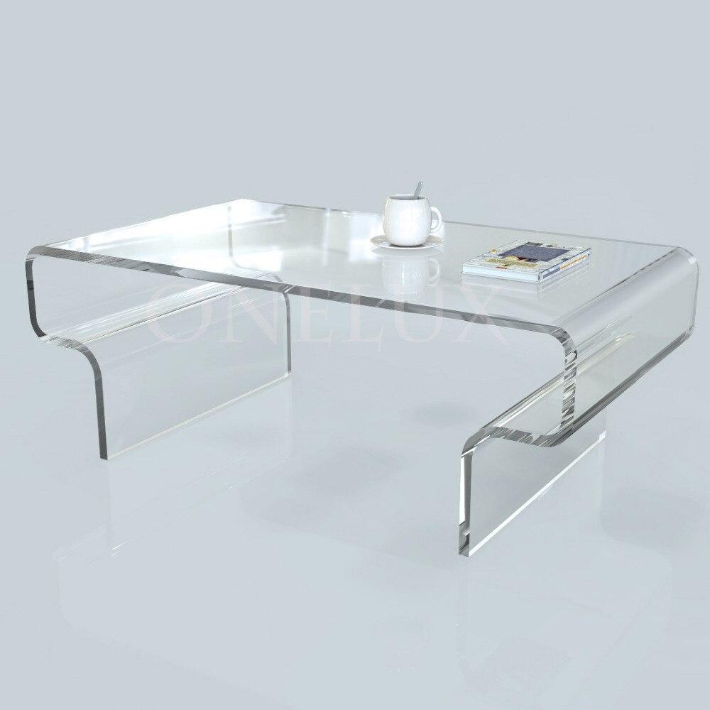 Высокая прозрачность акриловые чайный столик журнальный, lucite иногда гостиной таблиц onelux