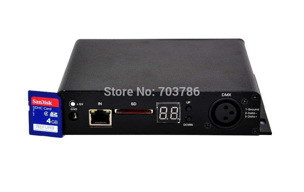 On Line Mode Led Video Curtain Controller Mini Size LED Graphic Curtain Controller PC Mode With 8 Road Connections|curtains for large windows|curtain rack|curtain supplier - title=