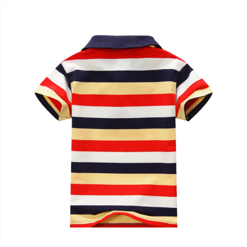 Buy baby children boys striped t shirts for Boys striped polo shirts