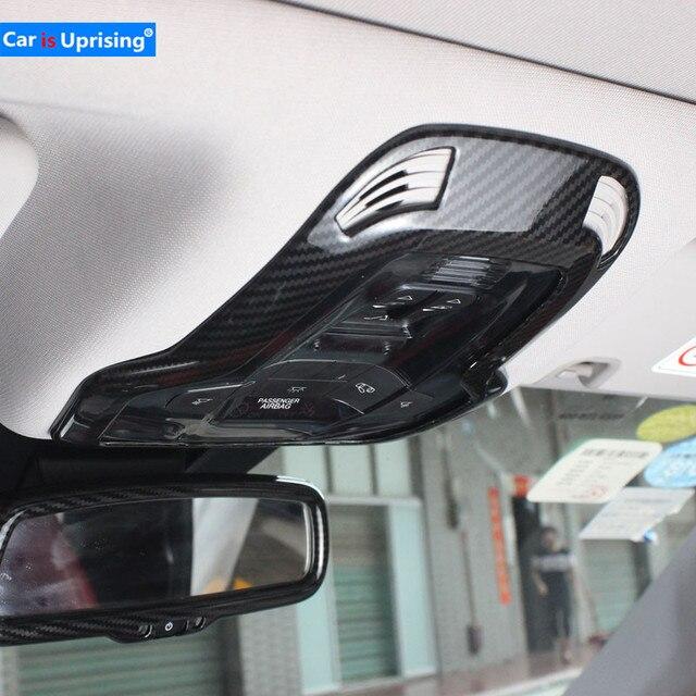 Для Alfa Romeo Giulia Stelvio обновленная интерьерная лампа для чтения лампа для украшения крыши Крышка переключатель рамка наклейка Стайлинг автомобиля