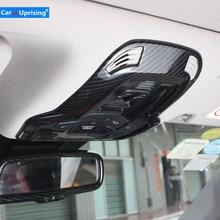 For Alfa Romeo Giulia Stelvio Upgrade Interior Reading Lamp Roof Light Decoration Cover Switch Frame Sticker Car Styling