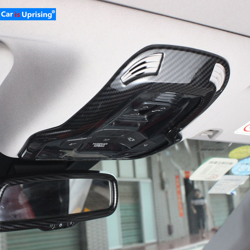 Pour Alfa Romeo Giulia Stelvio Mise À Niveau Intérieur Lampe de Lecture Toit Lumière Décoration Couverture Commutateur Cadre Autocollant Car Styling