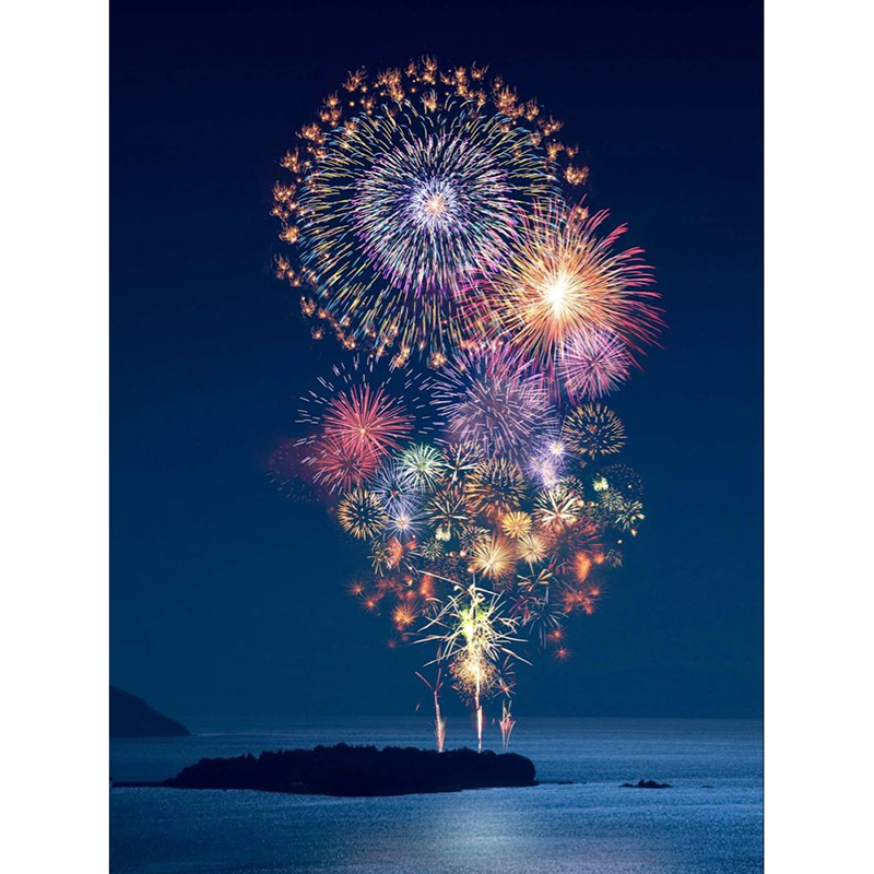 Full 5D Diy Daimond Painting Cross-switch Fireworks 3D Diamond Painting Full Square Rhinestones Painting Embroidery