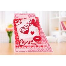 YaMinSanNiO 10 Pcs/lot Metal Cutting Dies Scrapbooking For Card Making DIY Embossing Cuts Craft Balloon Heart Angel Letter