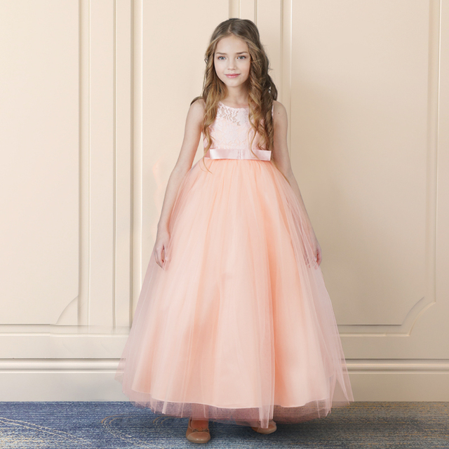 30655df6f الأطفال الأميرة زهرة فتاة اللباس الصيف توتو الزفاف طويل الرسمي اللباس عيد  ميلاد حزب فساتين للبنات
