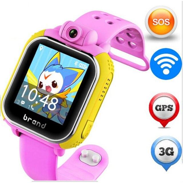 bf66152d60f Original JM13 3g Relógio Inteligente Câmera LBS GPS WIFI Crianças Relógio  de Pulso SOS Rastreador Alarme
