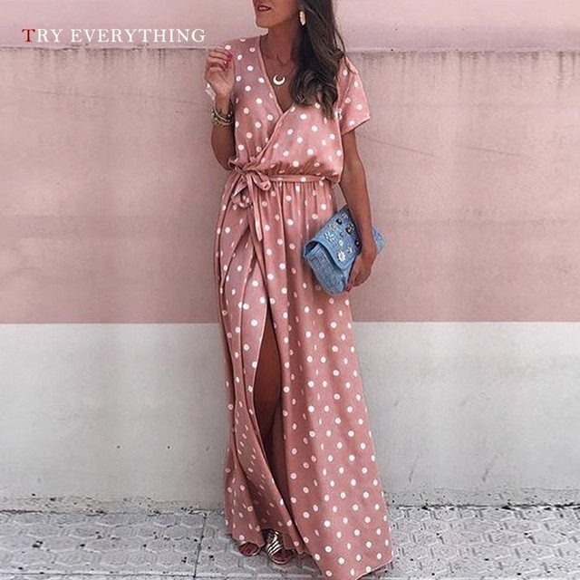 Pink Maxi Beach Dress Women...