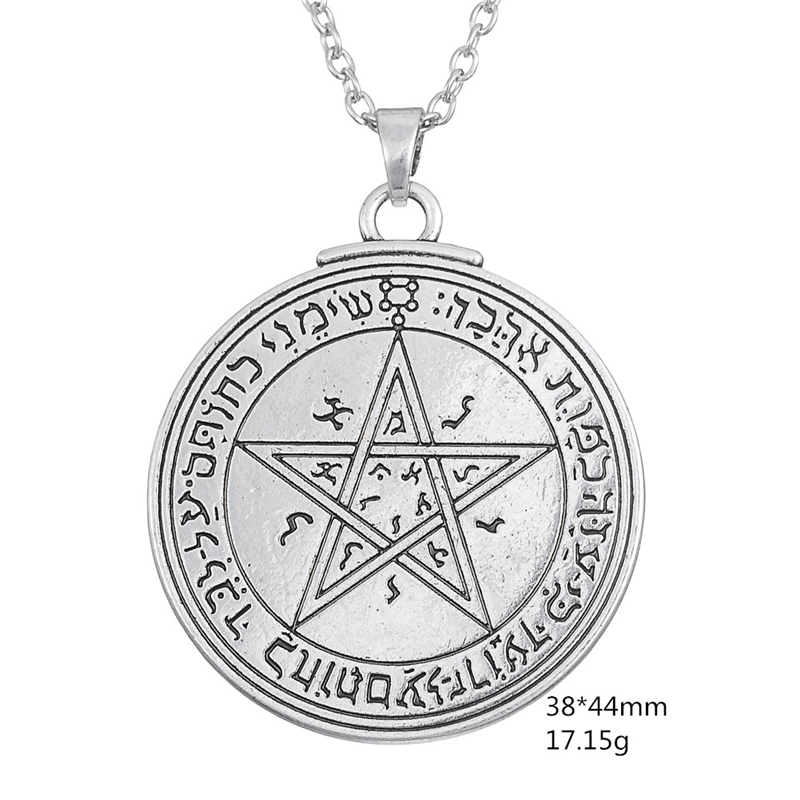 Skyrim Unque Double Side Charm Talisman of Venus Love Pentacle Key of Solomon Pendant Necklace Wicca Necklace Fashion Jewelry 1