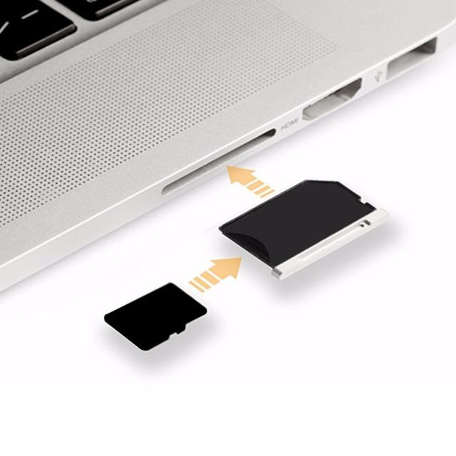 """Nova alumínio micro sd tf t-flash cartão de memória adaptador reader para apple macbook pro 15 """"15 polegada 2012 2013 Anos Frete Grátis"""