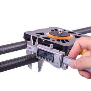 Image 5 - DIGITALFOTO suwak z włókna węglowego 10kg niedźwiedź podróży suwak wideo dolly utwór dslr rail dla Nikon Canon Sony videographer