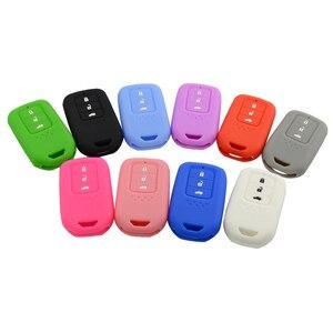Image 2 - Yeni Stil silikon araba anahtarı kapağı Durum Için Honda Accord 9 Crider CRV HRV 3 Düğmeler Akıllı Araba Anahtarı koruyucu kabuk Aksesuarları