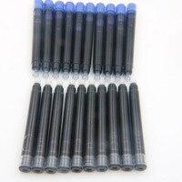 25 pces jinhao preto universal caneta tinteiro cartuchos de tinta caneta recarga|pen refills|jinhao blackink cartridges pen -