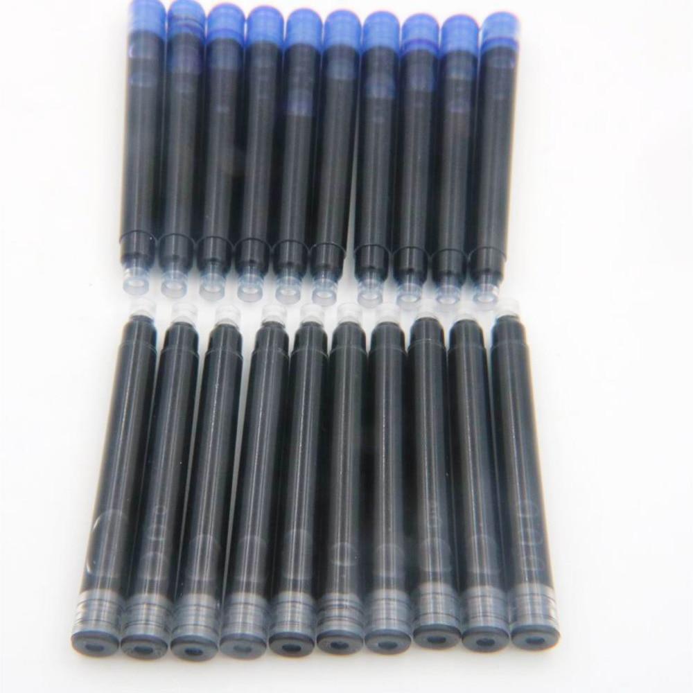 25pcs Jinhao Black Universal Fountain Pen Ink Cartridges Pen Refill