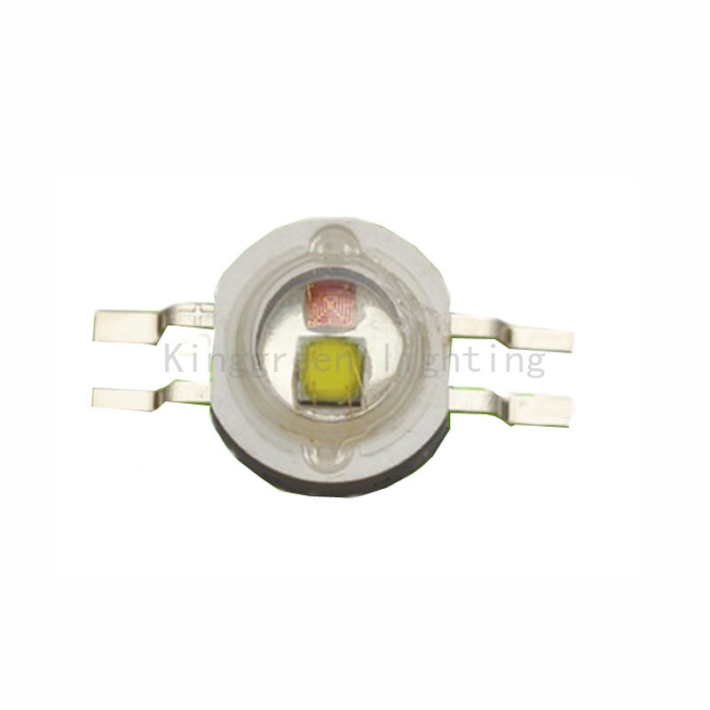 50X High quality 2W double color high power led lamp beads Yellow + White led light soure free shipping