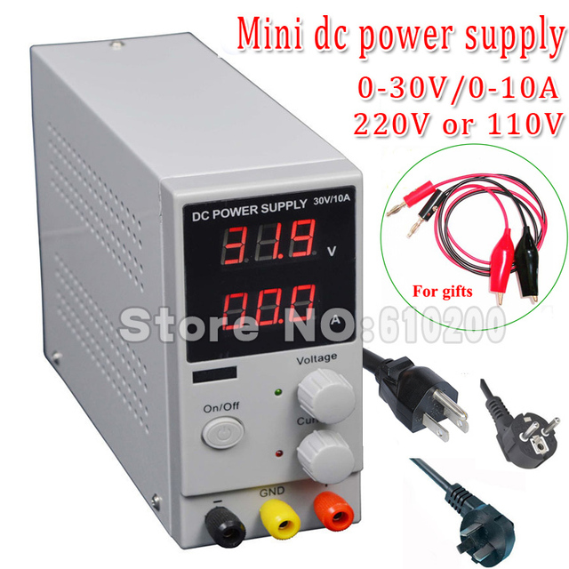 New Arrival Mini Adjustable DC power supply,0~30V 0~10A ,110V OR 220V, Switching Power supply,  certification,US/EU/AU Plug