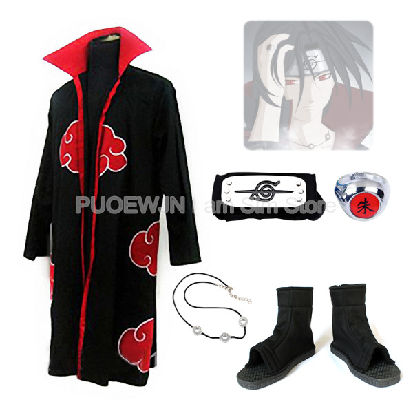 Hot Naruto itachi uchiha Costume Cosplay Halloween Costume Set Completo