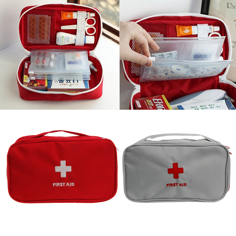Portable First Aid Survival Medicine Storage Bag Pill Box For Travel Home Medical Tools #Y207E# Hot Sale new gbj free shipping home aluminum medical cabinet multi layer medical treatment first aid kit medicine storage portable