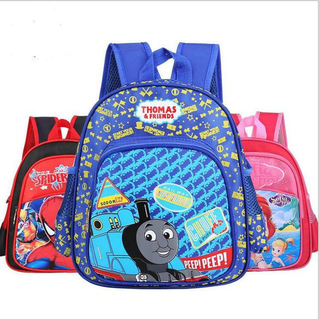 eb7d896a78 2017 New Cartoon Train Thomas School Bags for Primary Children kids School  Backpack for Boys Girls Children s Backpacks Mochila