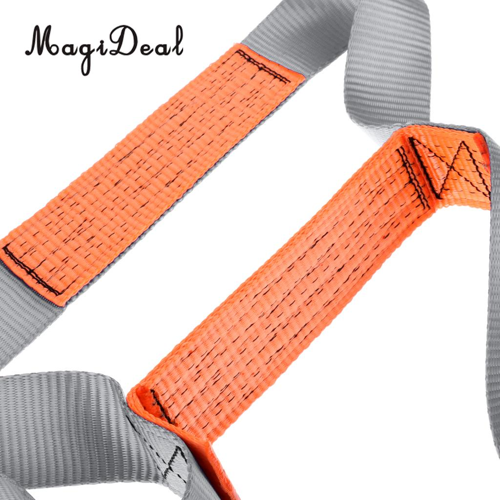 MagiDeal Durable Strong Polyester Adjustable 2 Step Boarding Ladder for Inflatable Boat Wakeboard Water Ski