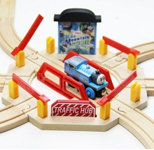 Lead in all directions Rotating Bridge fit Thomas and Brio Wooden Train Boy/ Kids Toy with a wooden thomas train
