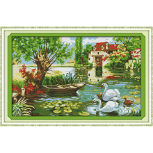 Everlasting love Love home Chinese cross stitch kits Ecological cotton printed 11CT 14CT DIY New year Christmas decorations gift