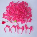 Free shipping 10pcs/set  pink headhood head decoration accessories for barbie doll