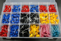 1470PCS 18 Types Heat Shrink Spade Crimp Wire Connector Fork Terminal Ring Fork Splice Assortment Kit