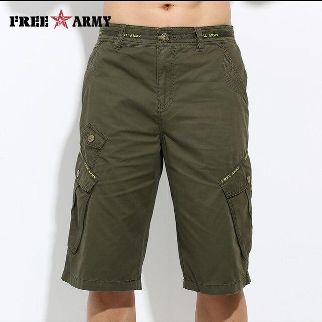 Летние мужские короткие штаны мешковатые мульти карман Военная Униформа молнии грузов Шорты для женщин Бриджи мужской Армейский зеленый Повседневное половина Шорты для женщин mk-722a