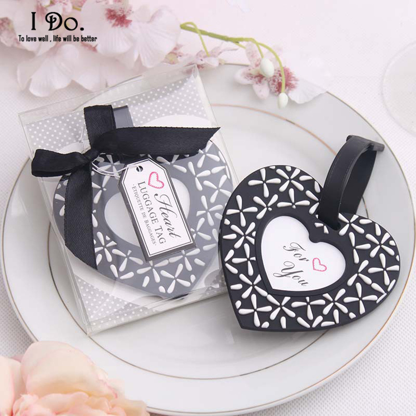 Free Shipping Heart Shaped Luggage Tag Wedding Favors And Gifts