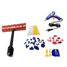 44 pcs/set Car DIY Tools Set Car Repair Dent Paintless Puller Removal Kits (EU Plug)