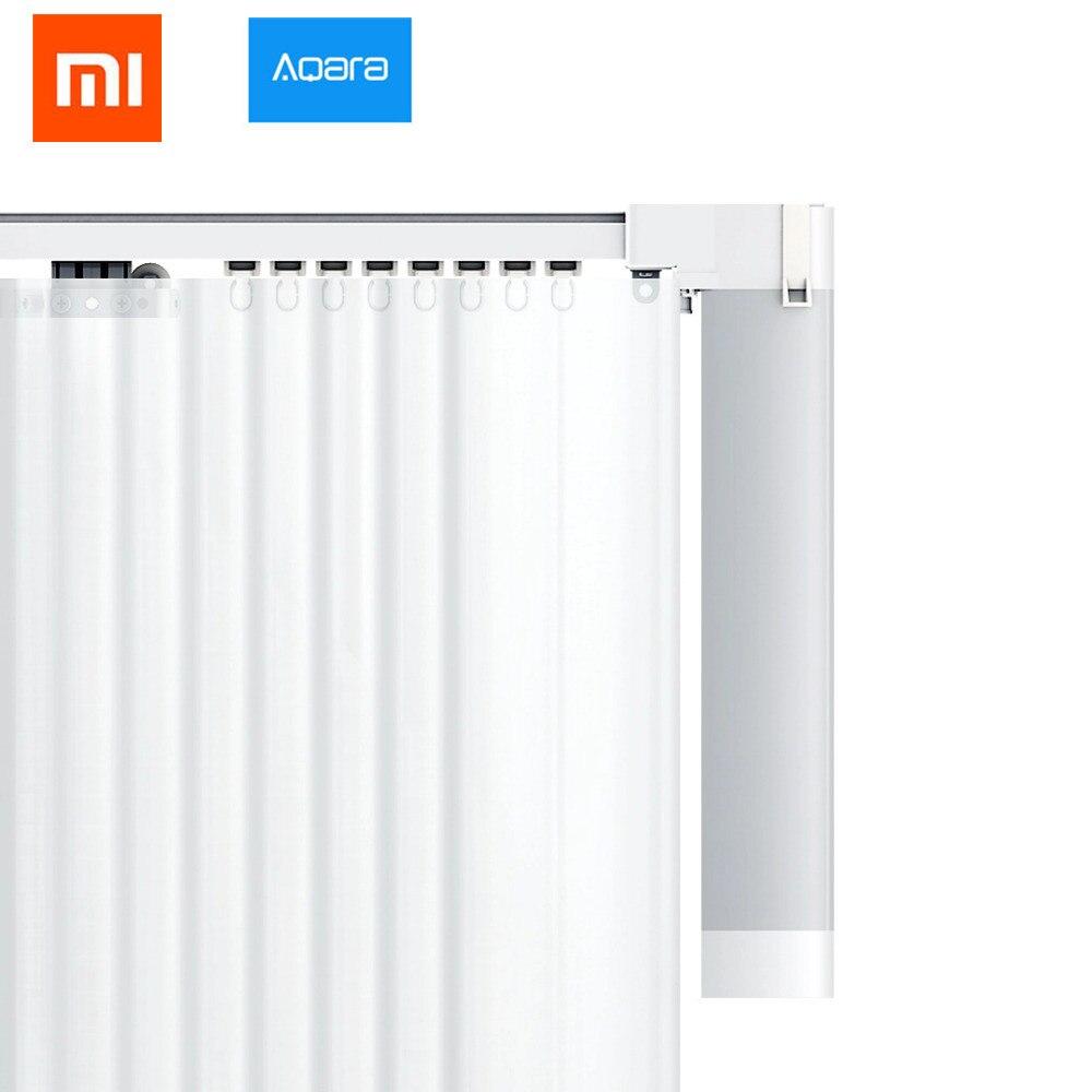 2018 xiaomi mi jia Aqara rideaux moteur rails Zigbee wifi version travail avec mi accueil application pour xiaomi maison intelligente piste de rideau silencieux