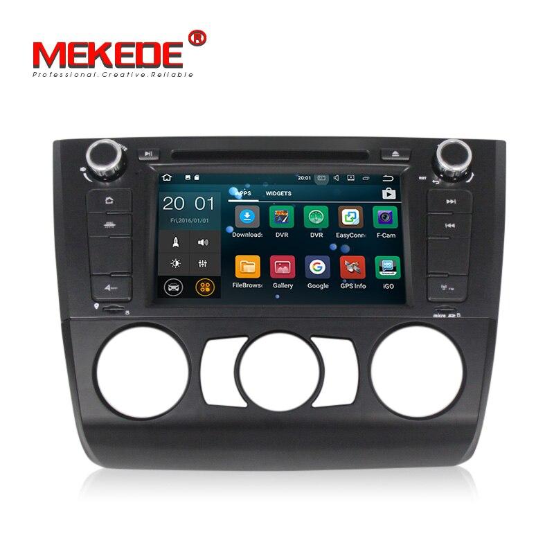Mekede RK3188 Pure android 8.1 quad core gps per auto dvd auto radio player per BMW 1 Serie E81 E82 E88 116i 118i 120i 130i unità di Testa