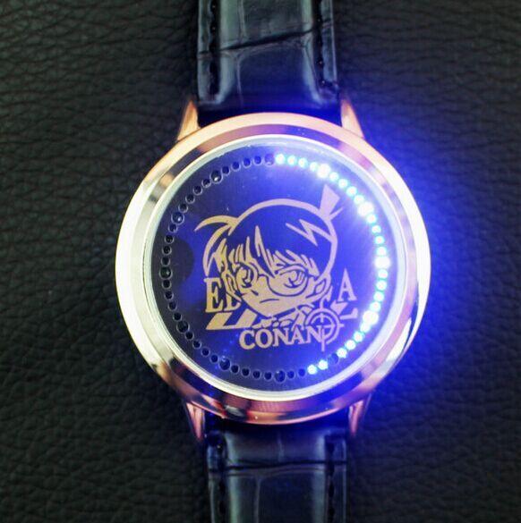 New conan waterproof LED watch Kid the Phantom Thief men's watch Anime Watches 1pcs