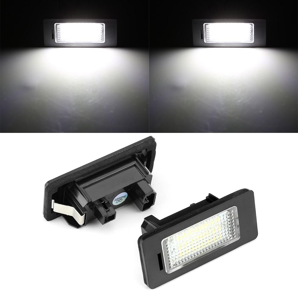 1 Pair E39 E60 For BMW License Plate Light 6000k White No Error Led Number License Plate Light for BMW E90 E91 E92 E61 E70 E71