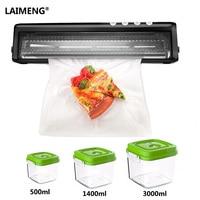 Laimeng فراغ آلة التعبئة زائد الحاويات البلاستيكية 3000 ملليلتر + 1400 + 500 ملليلتر ملليلتر مع فراغ أكياس dhl شحن مجانا