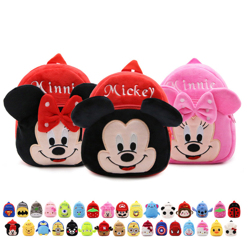 New 2017 Plush Minnie font b Kid b font Bag font b Backpack b font Children