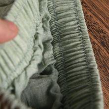 Women Linen Cotton Long Skirts Elastic MT