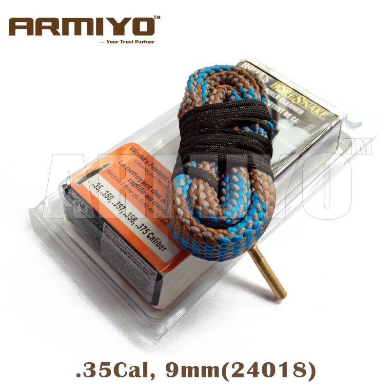 Armiyo Alésage Serpent Baril De Nettoyage. 35,. 350,. 357,. 358,. 375 Cal 9mm Cleaner 24018 Chasse Accessoires