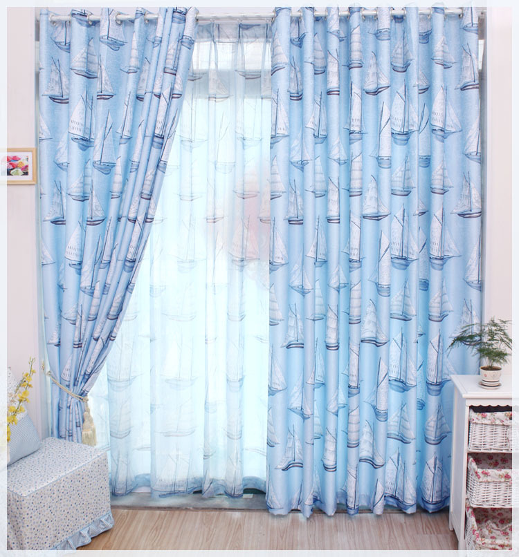 Cartoon Sailing Ship Design Shading Curtain Blackout: New!Hot Textiles Cartoon Bedroom Curtains Child Curtains