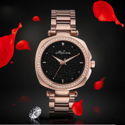 Cool Neutral Stylish Women Handsome Stainless Steel Watches Sparkly Crystals Dress Watch Square Reloj 2 Sizes Montre Femme F8183 Watches