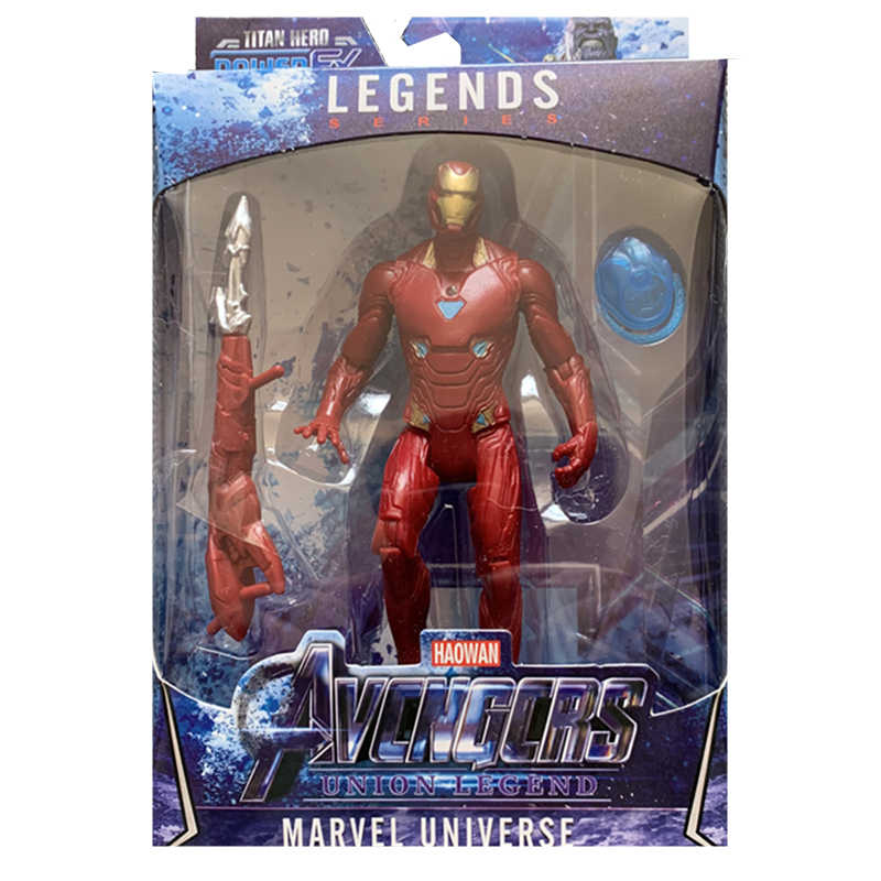 Superhero Vendicatori Iron Man Hulk Capitan America spiderman Capitan Marvele Action Figures regalo collezione di giocattoli per bambini