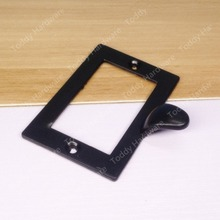 73*50mm Decorative Black Drawer Label Frames Pulls Hardware Large Metal Tags Frames Holder Gift Box Tag Card Label Holders