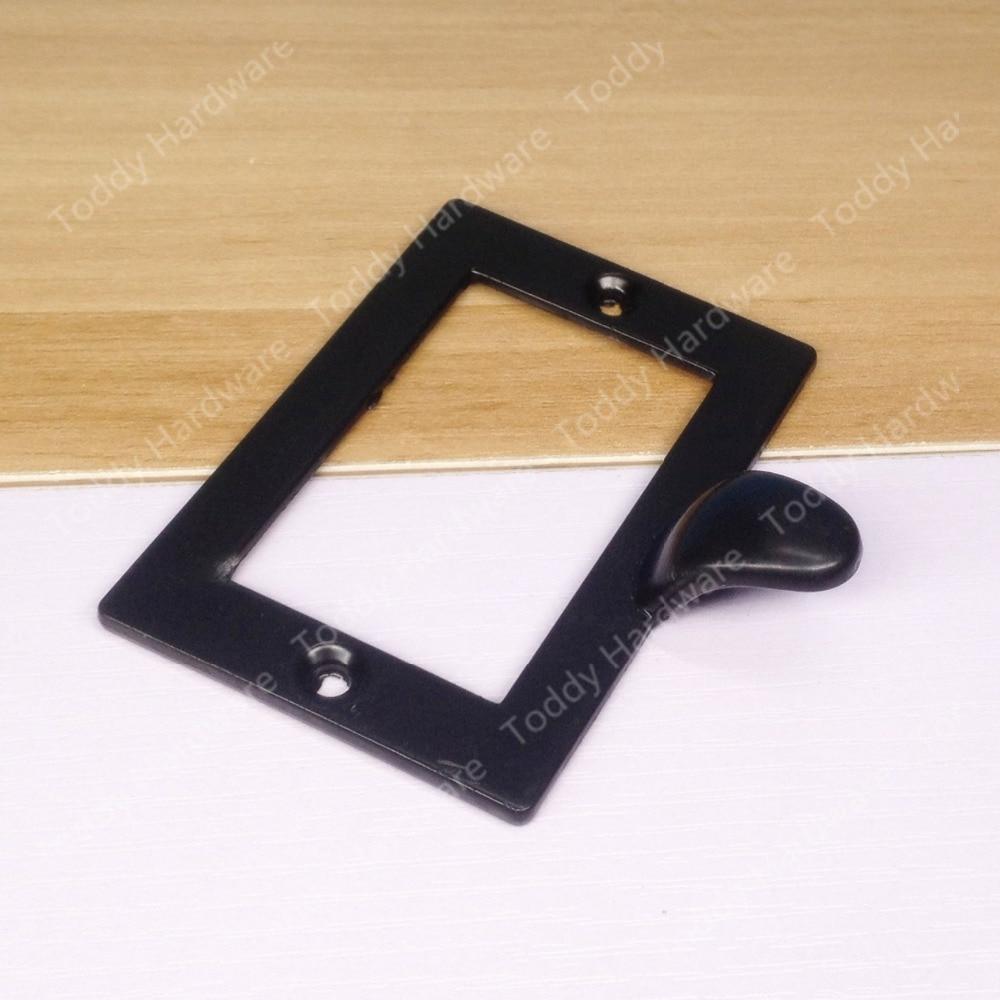 73*50mm Dekorative Schwarze Schublade Label Rahmen Zieht Hardware ...