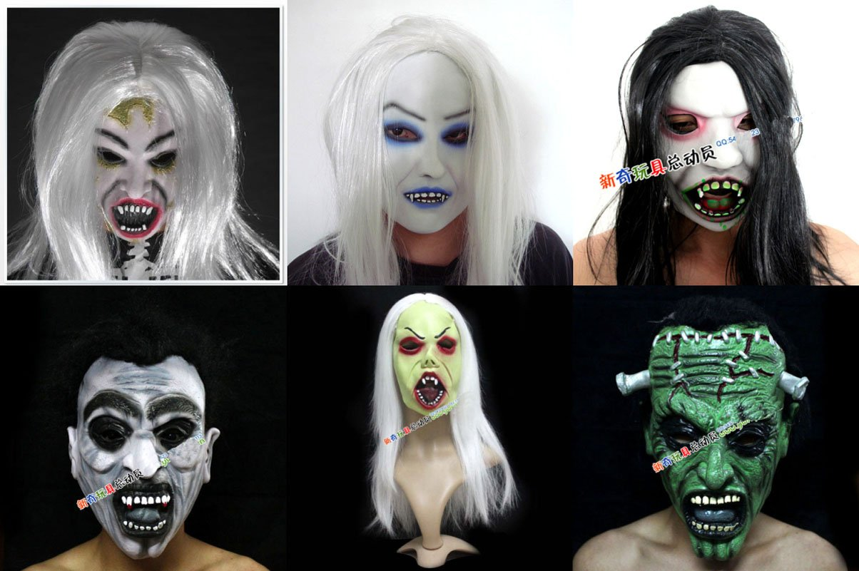 Popular Halloween Scary Vampire with Hair Mask-Buy Cheap Halloween ...