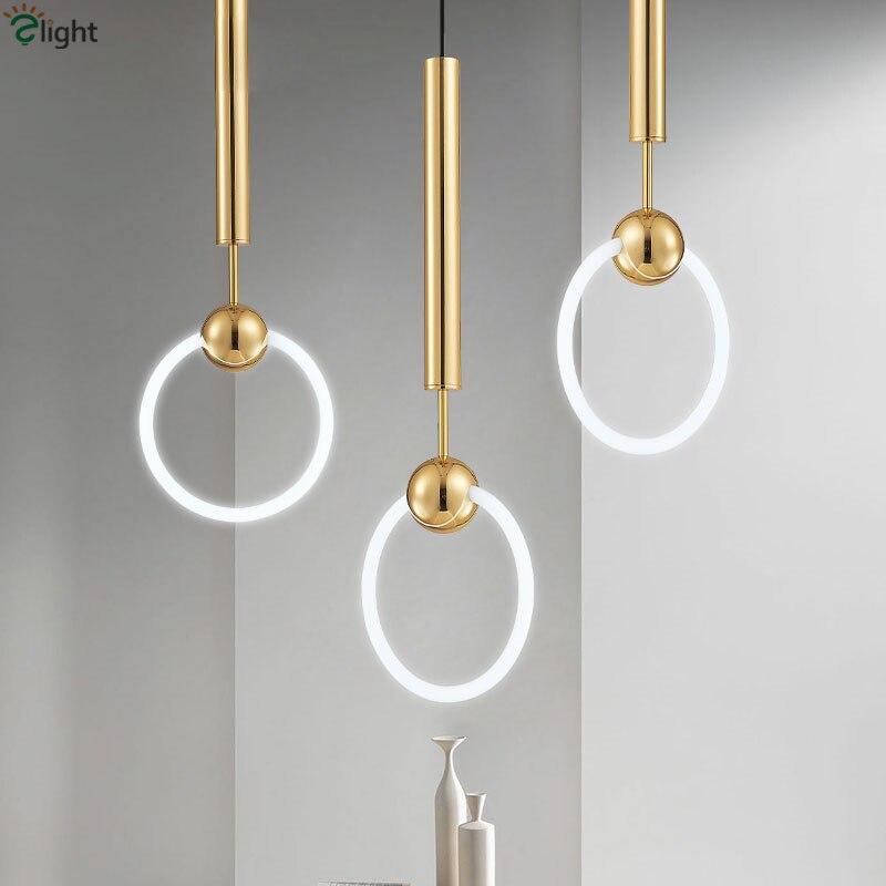 Lee Broom Ring T6 Led կախազարդ լույսերի լուսավոր փայլով ոսկե կախազարդ լույս հյուրասենյակի համար բար Led Luminaria կասեցնում է լամպի լուսավորող սարքերը