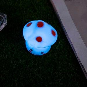 Image 3 - Nowy 1pc LED lampka nocna kolorowe grzyby naciśnij w dół dotykowy stołowa lampka nocna dla dziecka dzieci prezenty świąteczne projektowanie wnętrz