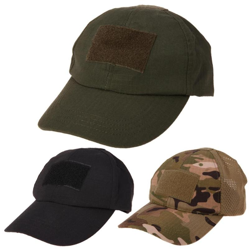 Molle Military Camouflage Tactical Baseball Cap Hats Badge Retro Camo Unisex Tactical Hat for Summer Camping Fishing