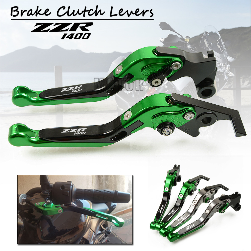 CNC Motorcycle Adjustable Foldable Brake Clutch Levers For Kawasaki ZZR1400 2006 2016 ZZR 1400 S Version
