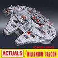 LEPIN 05033 5265 unids Star Wars Halcón Milenario del Último Colector Kits de Edificio Modelo Bloques Ladrillos Niños Juguetes de Regalo 10179