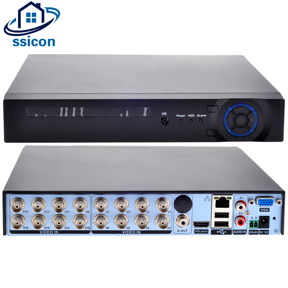 SSICON 16CH 1080N DVR Hybrid NVR Support 8*1080P;16*960P;4*3MP;4*5MP IP Camera 16 Channel CCTV Video RecorderSSICON 16CH 1080N DVR Hybrid NVR Support 8*1080P;16*960P;4*3MP;4*5MP IP Camera 16 Channel CCTV Video Recorder